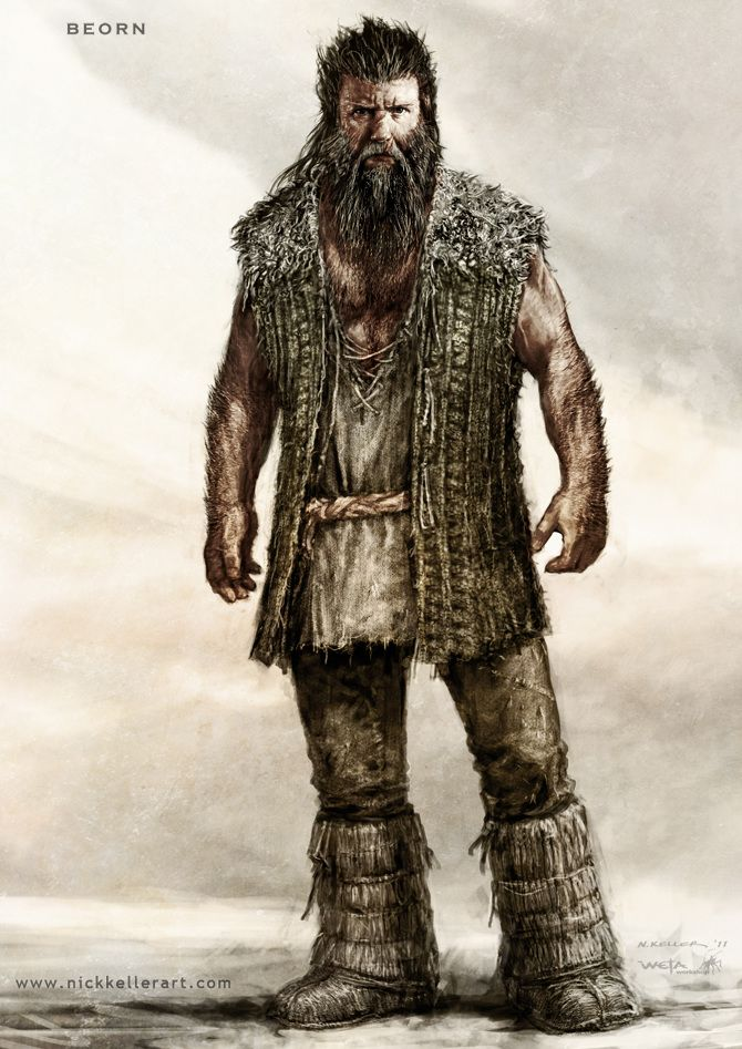Beorn, The Hobbit, part II - The Art of Nick Keller. This looks so much better than he did in the movie.