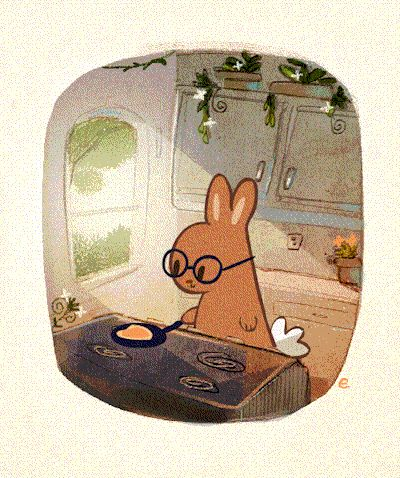 photo:everydaylouie: breakfast bunny ウサギが料理