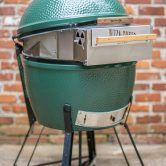 This is the long awaited XL version of the Pizza-Porta™. Completely new design specifically fits the XL Big Green Egg® Made completely from Stainless steel with an Aluminum heat shield and Oak h…