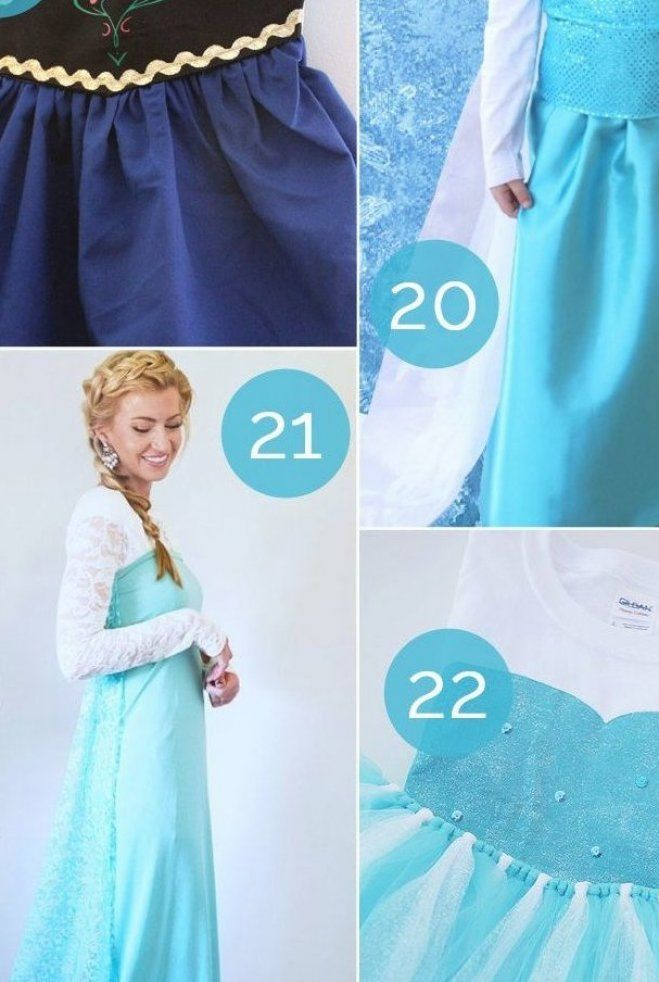 Halloween Costumes Easy Elsa 2020 how to make a diy frozen Halloween costume   ideas for both Anna