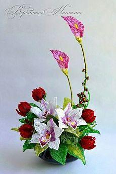 (6) D.. <3 | Beaded flowers