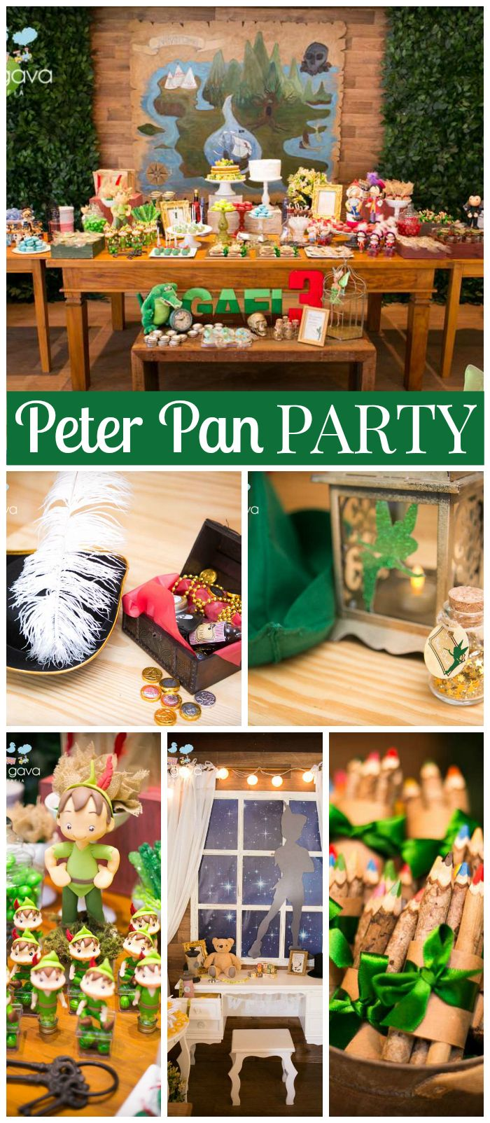 A Peter Pan boy birthday party with mermaids, a pirate ship, Indians, and even  Nana! See more party planning ideas at CatchMyParty.com!