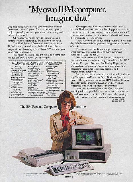 IBM PC advertisement from Personal Computing 1-82 | Flickr - Photo Sharing!