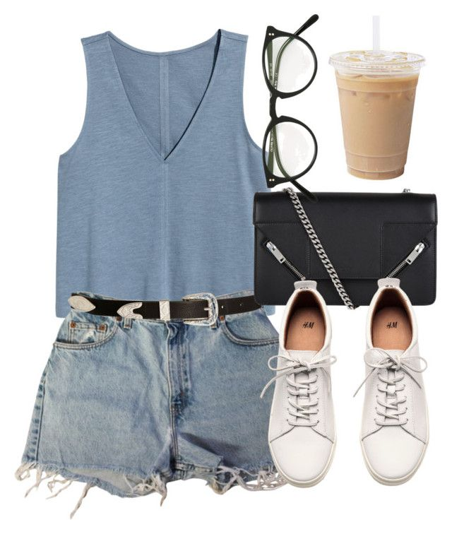 Untitled #6796 by laurenmboot on Polyvore featuring Levi's, H&M, Yves Saint Laurent, Oliver Peoples and ASOS