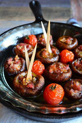 スペインバルで食べたあれを超簡単に再現 小材料 トースターほっとくだけ! スパイシーでHOT!NA生ハムマッシュルーム|レシピブログ