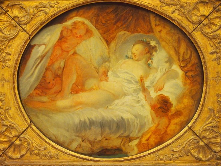 This Fragonard's painting brings to mind the hot summer wind to which his work was sometimes compared.