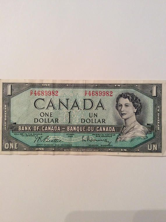 CANADA DOLLAR 1954 Issue legal tender banknote Series D F Very