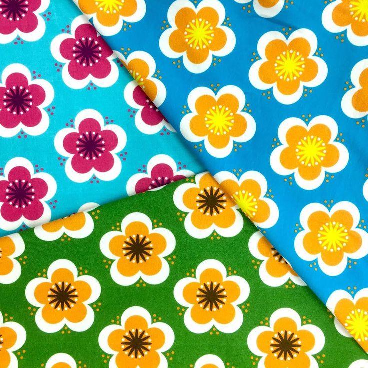 You wish - we do‼️Lovely #print Piparikukka is back 😍 #fabrics #tricot #fabriclove #sewing #sewinglove #shoponline tomorrow in our #webshop #myllymuksut #muksupuoti