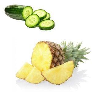 Centrifugato Drenante | 2 cetrioli, 3 o 4 fette di ananas