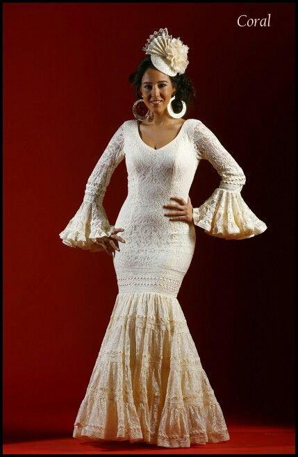 Flamenca blanco roto canastero