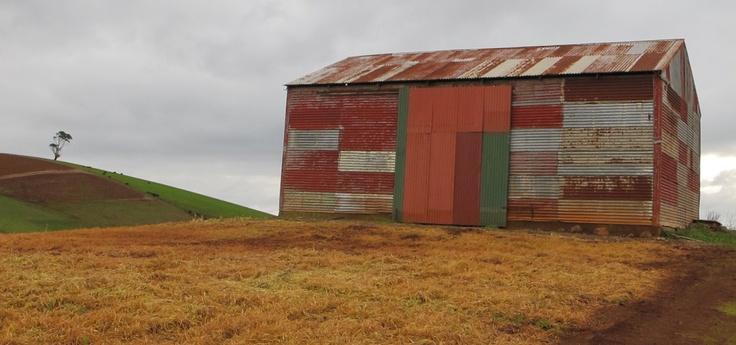 Corrugated iron patchwork masterpiece ...