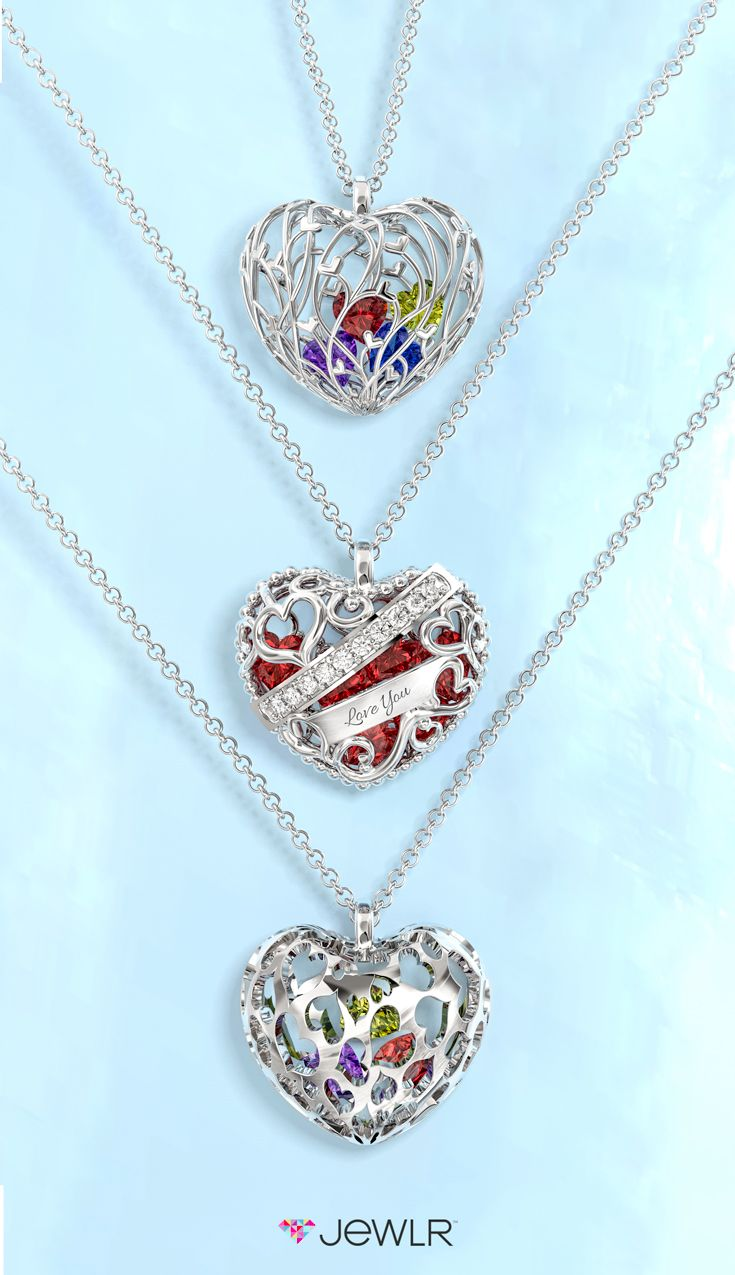 Design your own dazzling Cage Pendant with the birthstones of your loved ones and hold them close to your heart. Select your cage, metal, engraving and fill with sparkling heart stones. It's the perfect gift for Mother's Day! Free shipping, free returns and a free gift with purchase!