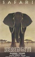 Серенгети сафари Южной Африке слон декорации Старинные Классические Ретро…