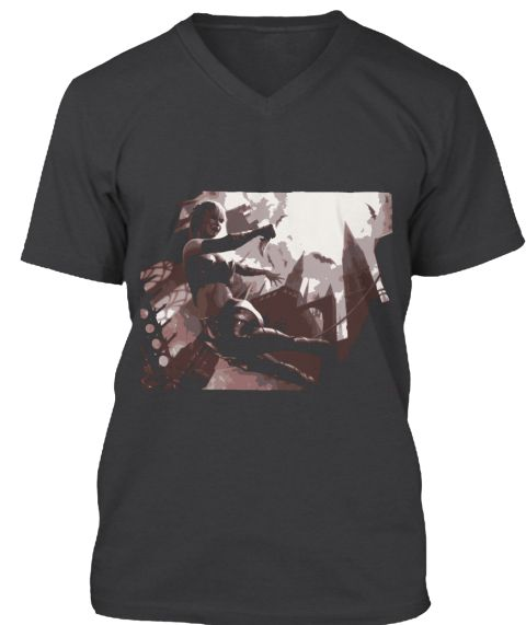 Vamp Rage Dark Grey Heather T-Shirt Front
