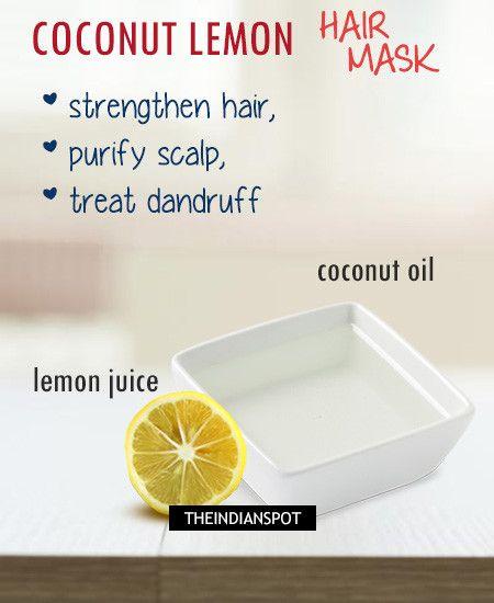 Coconut and Lemon Hair Treatments