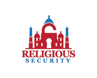 Religious Security Logo design - Logo design of a mosque with key holes inside it.  Price $250.00
