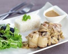 Paupiette de porc en sauce aux champignons
