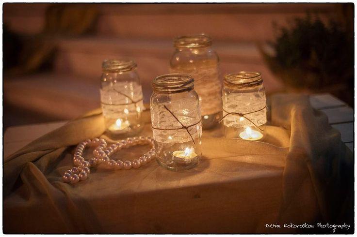 διακοσμηση γάμου με δαντέλα και πέρλες www.domeafavorevents.gr