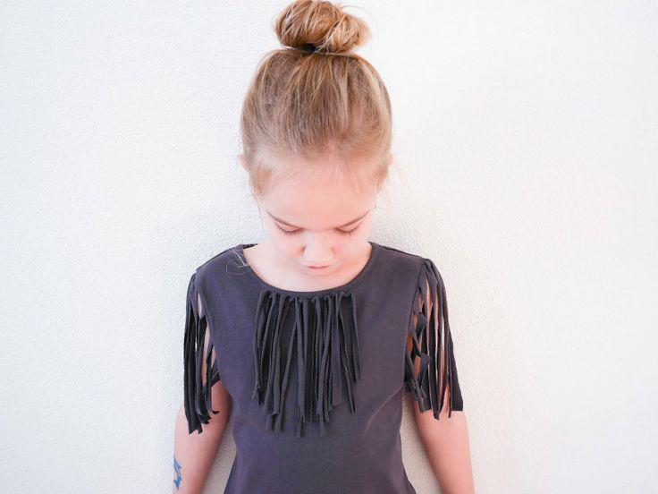 DIY Pocahontas fringe / franje shirt