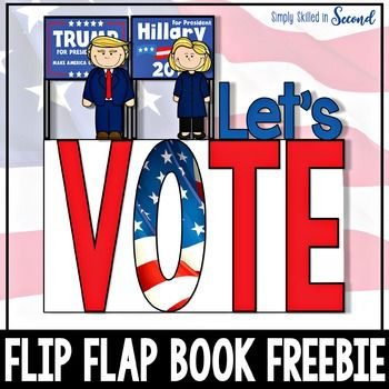 Are you ready to get your teach on for Election Day? This year is SURE to be an interesting race to the White House. This Let's Vote Flip Flap Book will be the perfect supplement to your lessons on Election Day and voting.