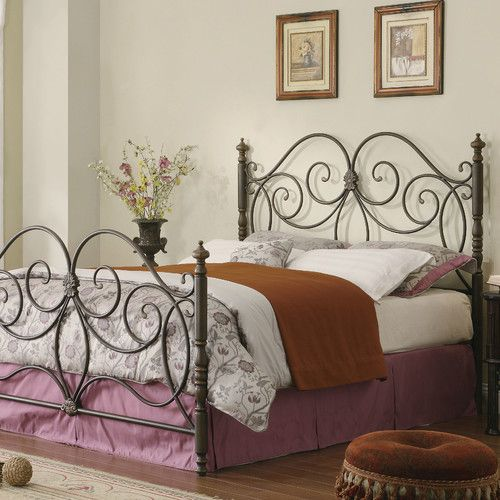 Features:  -Elegant curved design with center motifs.  -Headboard and footboard only.  -Bed frame requires 1208-Queen size rails, and cannot be used with any other rails.These rails will come with the