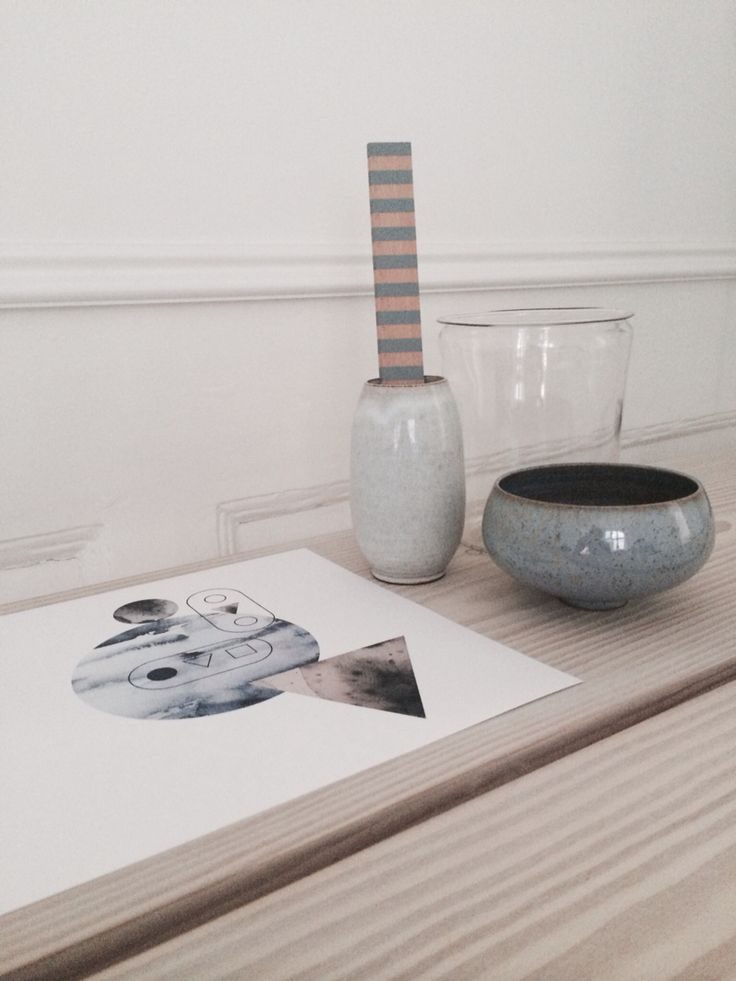 Vintage ceramics and Nynne Rosenvinge illustration