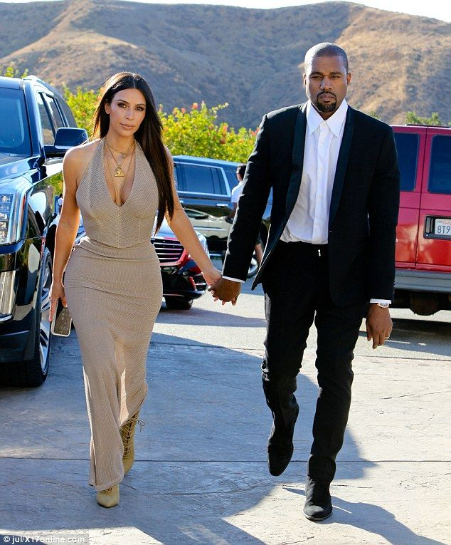 Spotlight-stealing sibling: Kim Kardashian and Kanye West arrived to the friend's wedding ...