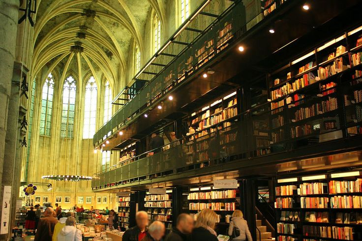 Boekhandel Dominicanen is located inside the 700-year old church in the Netherlands.