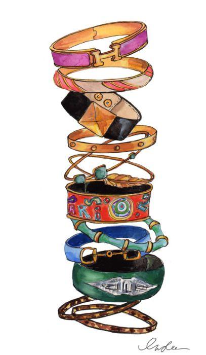 Hermes bracelets sketch