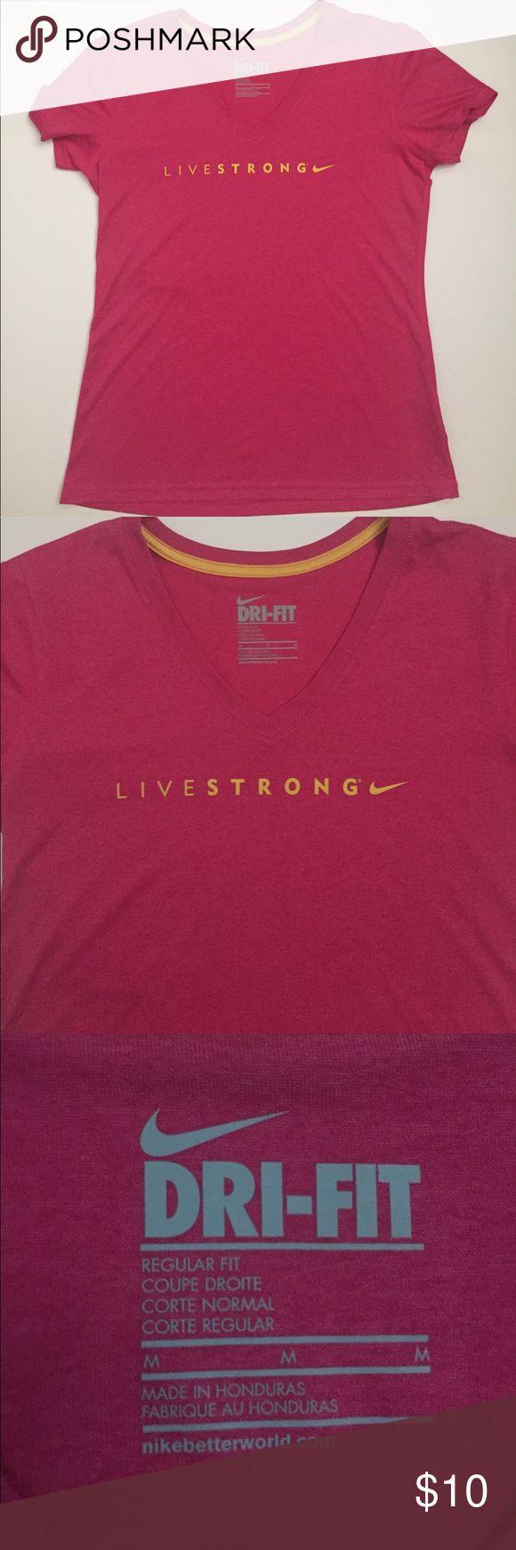 Nike Dri-Fit Tee Pink Nike Livestrong dri fit tee. Size medium. Never worn. Nike Tops Tees - Short Sleeve