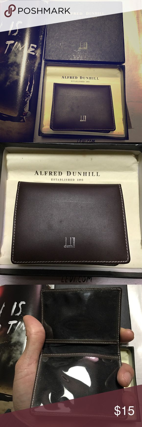 🔥NEW🔥 Alfred Dunhill Credit Card Wallet New never used. I've had it stored in my wardrobe years ago until now. Therefore, the box may show signs of aging. Please refer pictures for details Alfred Dunhill Accessories Key & Card Holders
