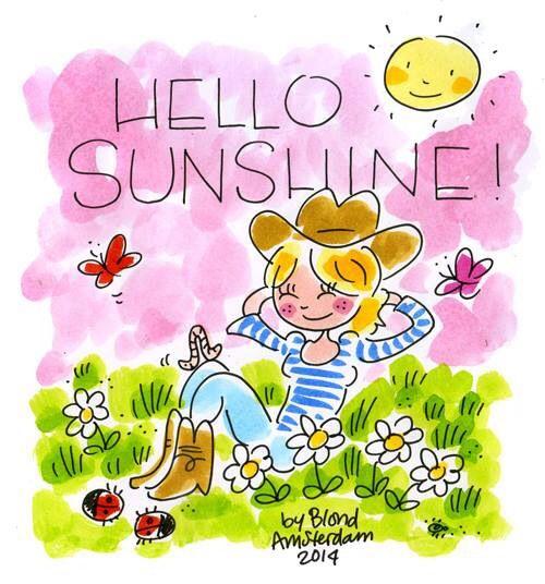 Hello sunshine! By blond Amsterdam