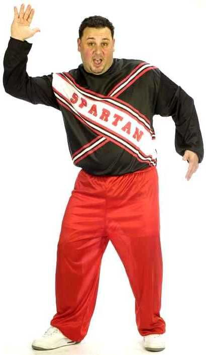 Plus Size Adult Spartan Cheerleader Craig Costume - Candy Apple Costumes