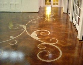 What are some tips for sealing concrete floors?