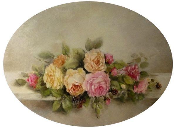 Carte ancienne de fleur