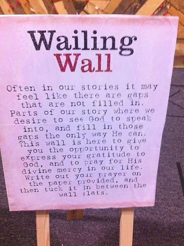 Worship Response Station Ideas - Wailing Wall