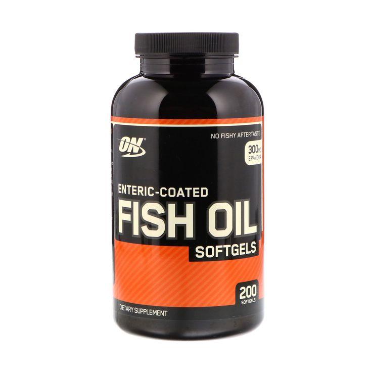 Optimum Nutrition زيت سمك مغلف معوي 200 حبة Fish Oil Oils Optimum Nutrition