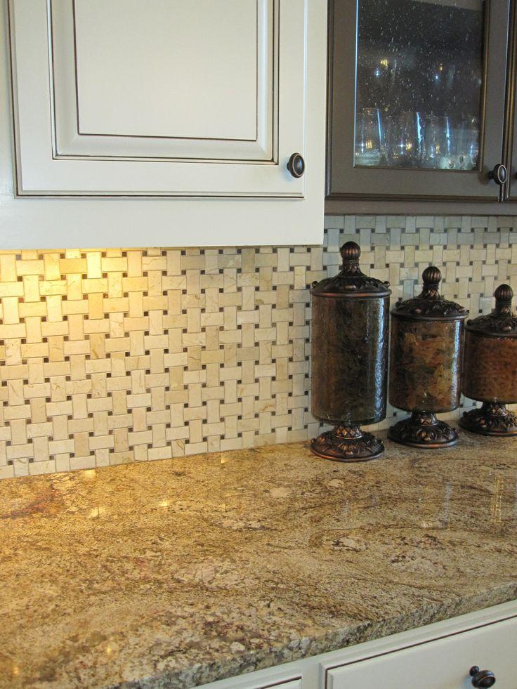 Basketweave Backsplash Kitchen Ideas Pinterest