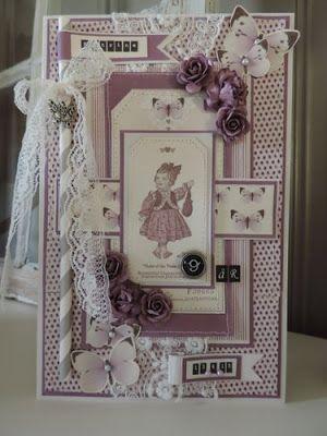 Bursdagskort Pion Design Anne Gro Lia