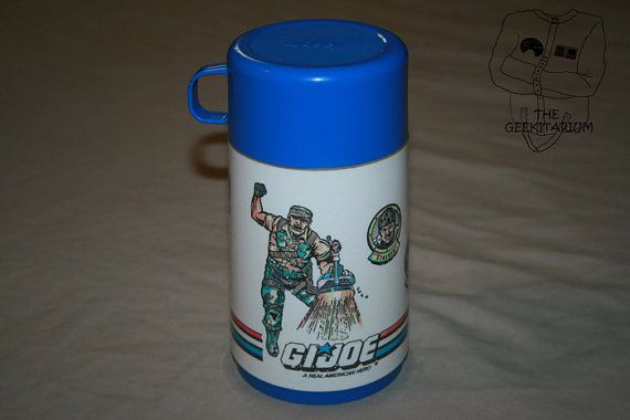 Vintage G.I Joe Aladdin thermal bottle cup 8 oz by TheGeekitarium