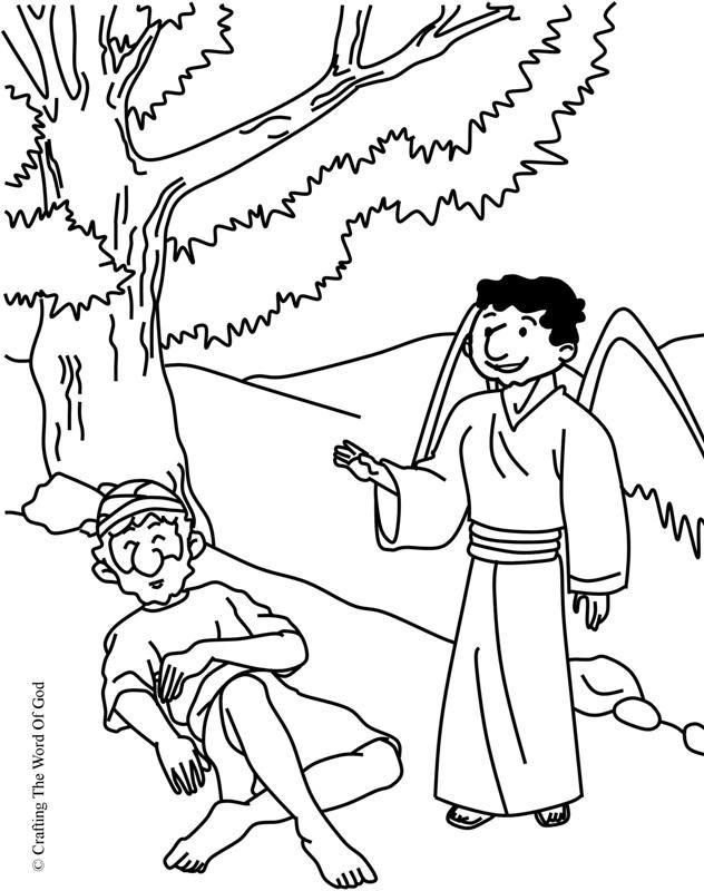 Elias Alimentado Por Dios- Pagina De Colorear