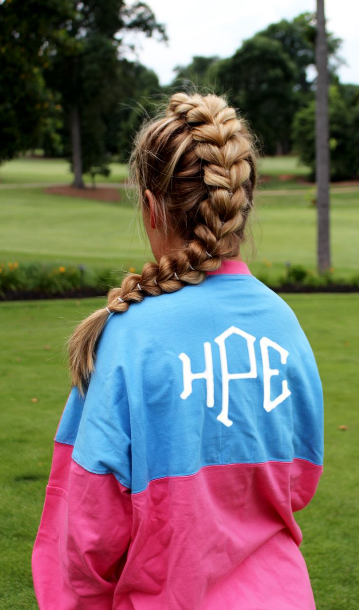 ADORABLE! Monogrammed Colorblock Pocket Pullover Jersey from Marleylilly.com- You can preview your monogram! #hairgoals
