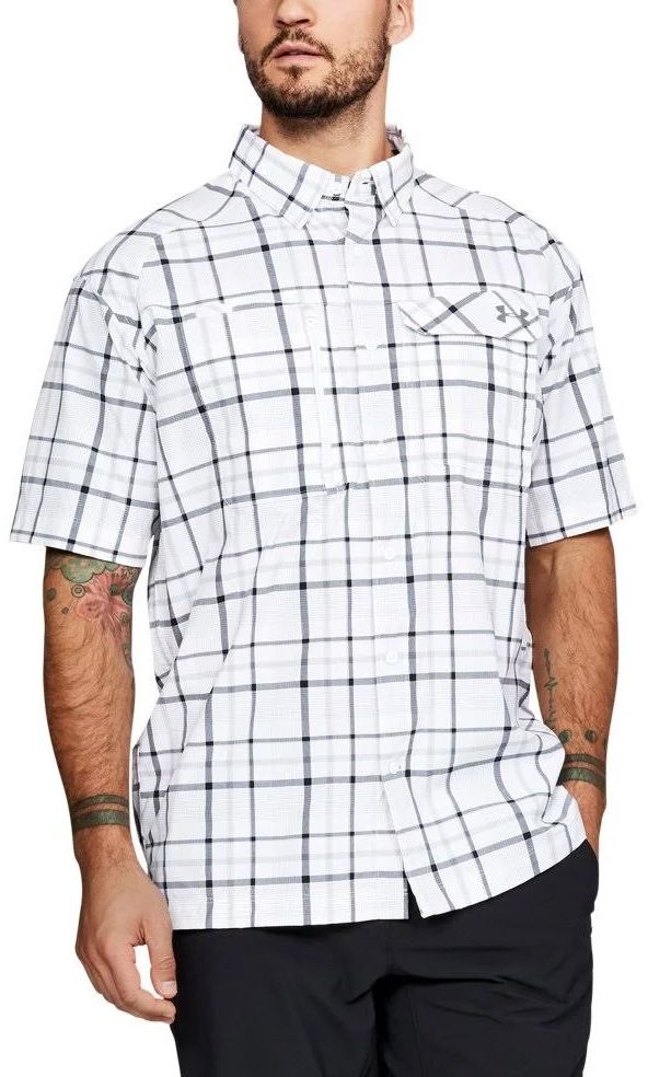 2f5c77a6 Under Armour Fish Hunter Short Sleeve Plaid Shirt Under Armour, Men Casual,  Ss,