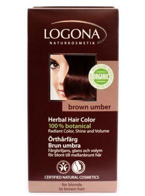 LOGONA Prášková farba na vlasy  - Hnedá umbra