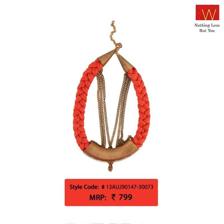 Team this vibrant neckpiece with your #Navratri dress & be ready to be a stunner.   Make this yours : http://shopforw.com/categoryProducts.php?catID=177&maincatName=Jewellery&smallCat=Neckpiece