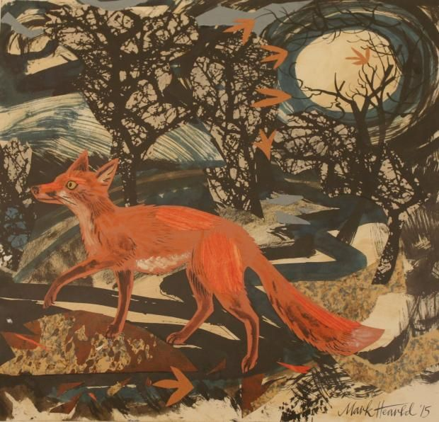 """""""Vixen"""" by Mark Hearld, which won the Benton Purchase Prize, judged by Emma Bridgewater, at the Discerning Eye exhibition, 2015."""