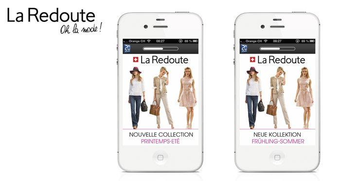 www.asimove.com | La Redoute : Création de formats publicitaires HTML 5 / CSS 3. La redoute est une enseigne de vente à distance de prêt-à-porter et de décoration de la maison. La société souhaitait communiquer sur la nouvelle collection Printemps / Eté 2014.