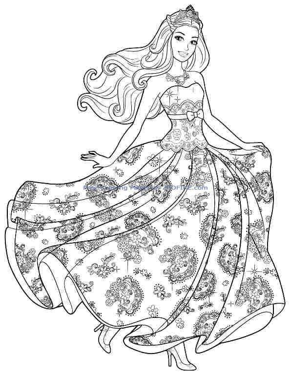 Glup Drven Voćnjak Barbie Cartoon Coloring Pages - Ramsesyounan.com