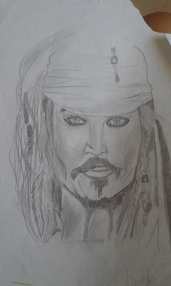 Jack Sparrow  Drawing by me briny, love johnny depp  <3