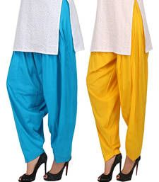 Buy Combo Pack Pure Cotton Semi Patiala Bottoms patialas-pant online